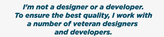 not a designer or developer banner